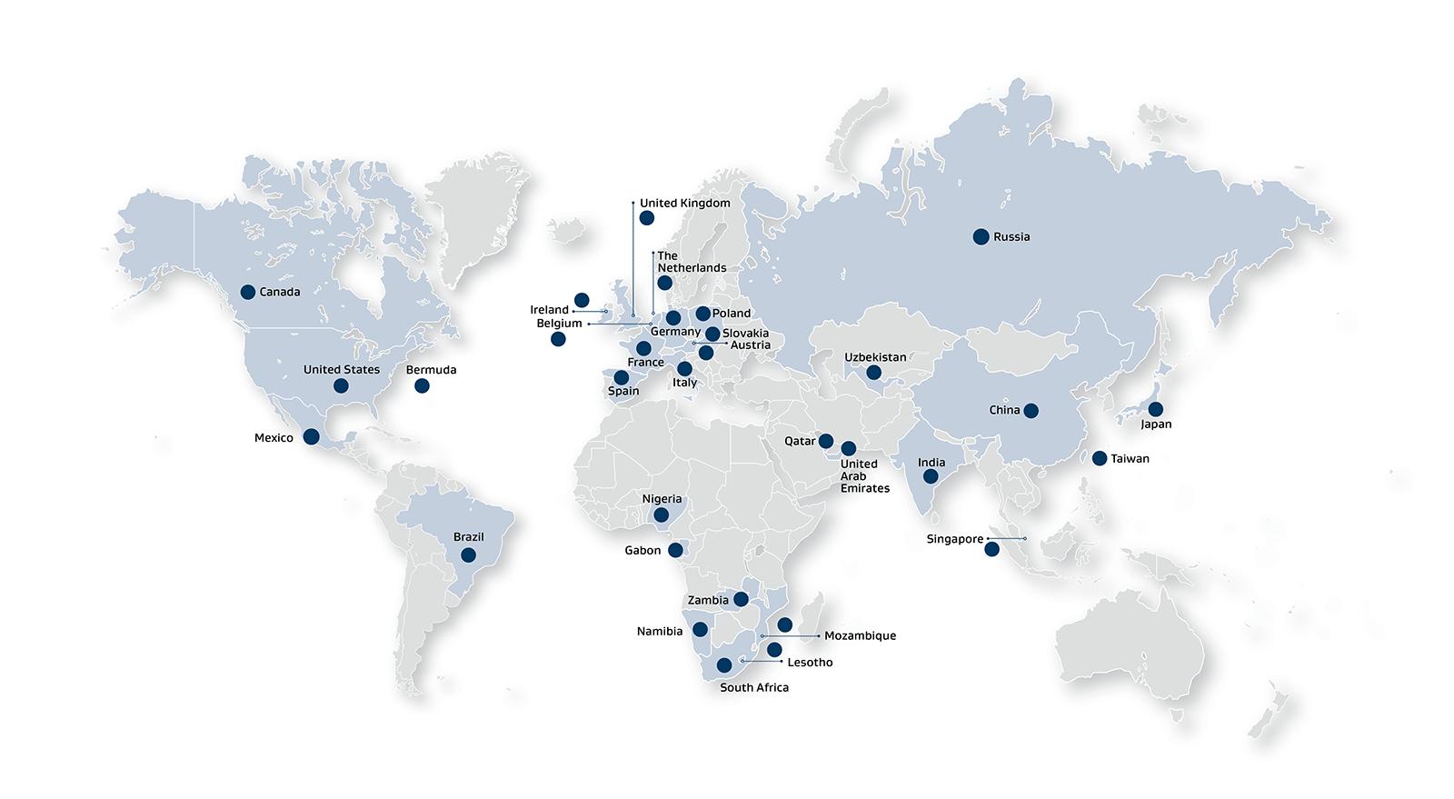 Sasol Global presence